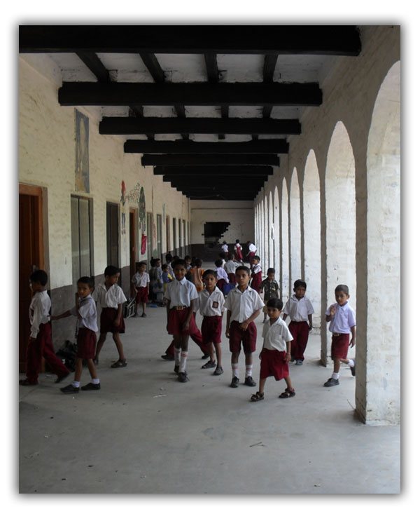 Students Going to their Class Rooms